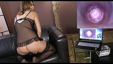 Hot girl plays with an endoscope - more at webcamshub.com