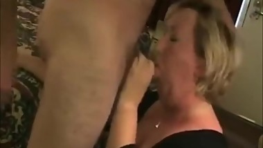Mature Chick Licking his asshole and cock to Orgasm