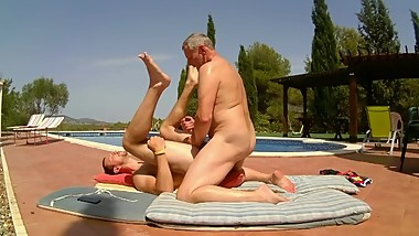 Older Younger Daddy Fucks Son Bareback Outdoors