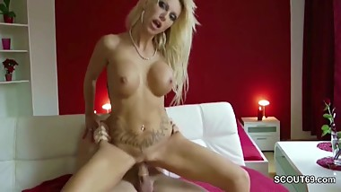 German Hot Milf in Homemade Sextape with Strange after Party
