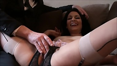Real Amateur Sub Slut Choking Gagged Big Cum