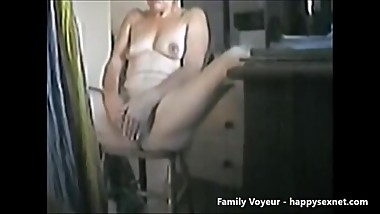 Great masturbation of my mom caught by hidden cam