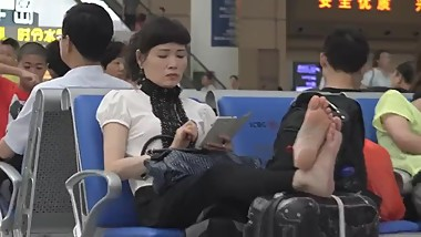 Asian soles at airport