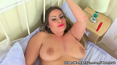 English milf Sophia Delane lets her lust take over