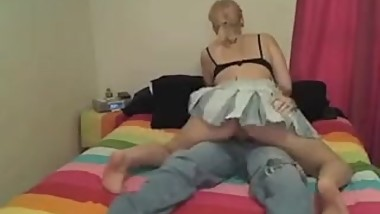Cowgirl Rides Her Man. Blow Job To Finnish