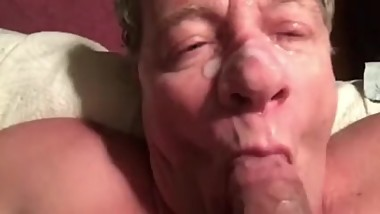 HE'S A COCKSUCKING CUM DUMP