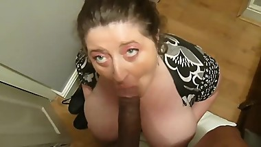 Busty UK mom Ella enjoys huge black dick