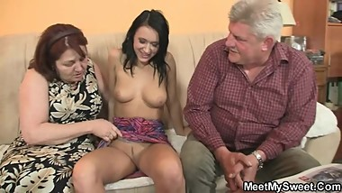Oh God! She is riding my dad's cock…