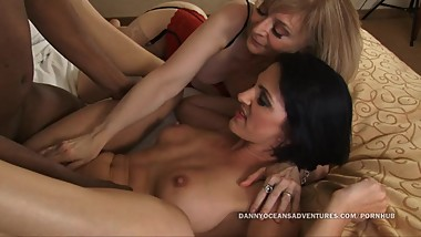 DOCEAN Legends Nina Hartley and Roxanne Hall split by Black Cock