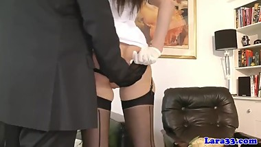 Mature nurse lady in lingerie pussyrubbed