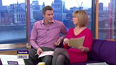 Kate Garraway - amazing legs in sexy grey tights !