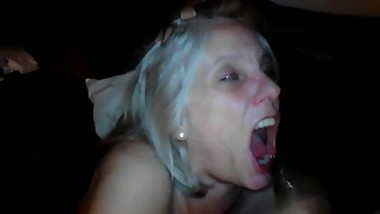 Gwen 51 facialized by huge black cock