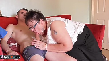 AgedLovE BBW Chubby Granny Honey And Sam Bourne