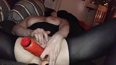 swedish cunt working her pussy hard. waiting for her young son in law to fu