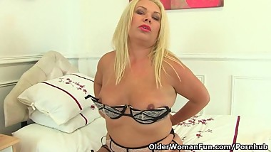 British milf Francesca will entertain you today