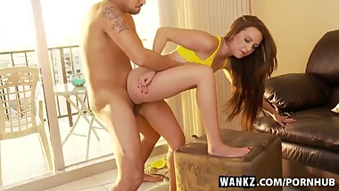 WANKZ- Stunning Young Hottie Pressley Has Her Moist Pussy Stretched