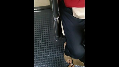 Footsie in train